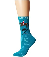 Ariat Cadence Crew Socks Blue Women's Crew Cut Socks Shoes