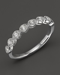 Bloomingdale's Diamond And 14K White Gold Stackable Ring .25 Ct. T.W. No Color