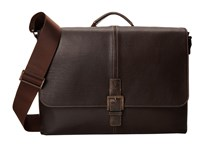 Boconi Bags And Leather Hendrix Single Buckle Messenger Oldwood Brown Messenger Bags