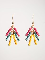 White Stuff Tassel Bead Drop Earring