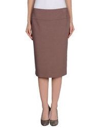 Vdp Collection Knee Length Skirts Pastel Pink