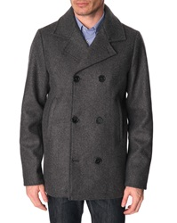Menlook Label Lee Coal Grey Pea Coat