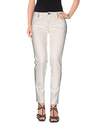 We Are Replay Denim Denim Trousers Women White