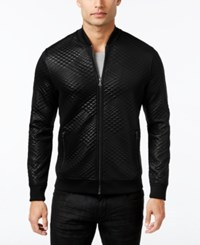 Inc International Concepts Men's Diamond Quilted Bomber Jacket Only At Macy's Deep Black