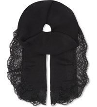 The Kooples Silk And Lace Scarf Leopard Black