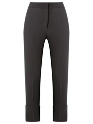 Giuliana Romanno Side Pockets Cropped Trousers Grey