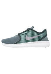 Nike Performance Free Run Commuter Trainers Hasta Seaweed Green Glow Offwhite Dark Green