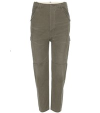 Citizens Of Humanity Ronja Cotton Cargo Trousers Green
