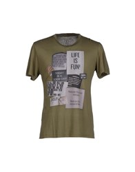 Pagano Topwear T Shirts Men Military Green