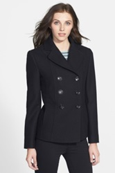 Kenneth Cole New York Wool Blend Peacoat Black