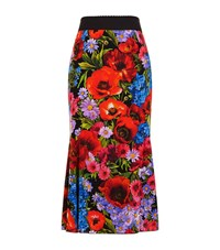 Dolce And Gabbana Floral Print Midi Skirt Female Red