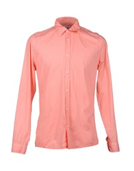 Gold Case By Rocco Fraioli Long Sleeve Shirts Salmon Pink