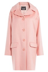 Boutique Moschino Wool Mohair Cocoon Coat Rose