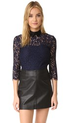 Rachel Zoe Oliver Lace Top Navy