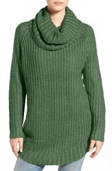 Dreamers By Debut Junior Women's Cowl Neck Sweater Hunter Green