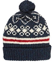 Thom Browne Women's Fair Isle Wool Mohair Beanie Navy