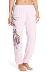 Lauren Moshi 'Tanzy' Graphic Lounge Pants Tickle Pink Moon Dreamcatcher