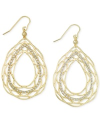 Sis By Simone I Smith Sis By Simone I. Smith Crystal Openwork Teardrop Earrings In 18K Gold Over Sterling Silver Yellow Gold