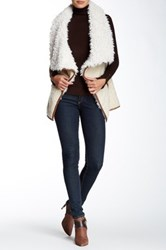 Fever Faux Shearling Vest White