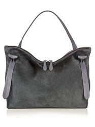 Jil Sander Hill Medium Suede And Leather Tote Grey
