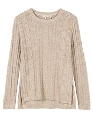 Fat Face Rede Cable Jumper Cotton Seed