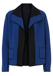 Betty Barclay Reversible Knit Jacket Blue