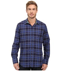 Robert Graham Lido Long Sleeve Woven Shirt Blue Men's Long Sleeve Button Up