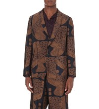 Dries Van Noten Bailey Jacquard Blazer Bronze