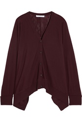 Alexander Wang Oversized Fine Knit Wool Cardigan