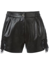 Philipp Plein Lace Insert Shorts Black