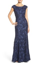 Xscape Evenings Women's Embroidered Lace Mermaid Gown