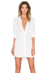 Blaque Label Button Up Shirt Dress White