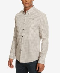 Kenneth Cole New York Men's Check Besom Pocket Long Sleeve Shirt Sedona Red Combo