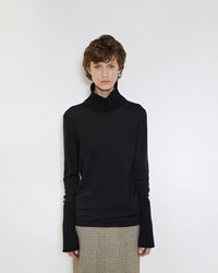 Simone Rocha Thick Rib Turtleneck Black