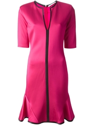 Givenchy Crepe Peplum Dress Pink And Purple