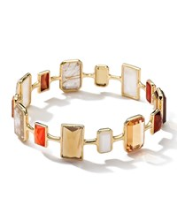 Ippolita Rock Candy Gelato 18K Multi Stone Bangle Orange
