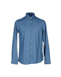 Napapijri Denim Denim Shirts Men Blue