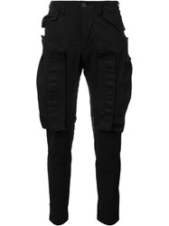 Julius Tapered Pocket Trousers Black