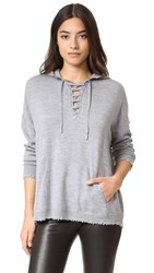The Kooples Lace Up Hoodie Grey