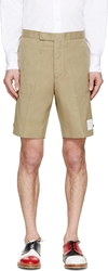 Thom Browne Khaki Cotton Shorts