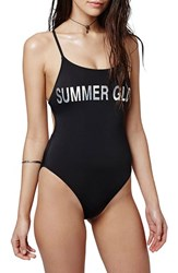 Women's Topshop 'Summer Glow' One Piece Swimsuit