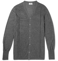 Acne Studios Juri Wool Cardigan Gray