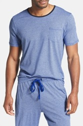 Daniel Buchler Lounge Crew Neck Short Sleeve Tee Blue