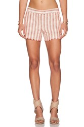 Rachel Zoe Verti Fringe Short Red