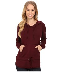 Mod O Doc Cotton Modal Spandex French Terry Pullover Hoodie Burgundy Noir Women's Sweatshirt Brown