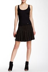 Versus By Versace Studded Pleated Skirt Black