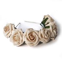 Zt Crown And Glory Whole Lotta Rosie Headband Beige