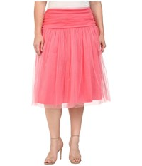 Kiyonna Twirling In Tulle Skirt Coral Women's Skirt