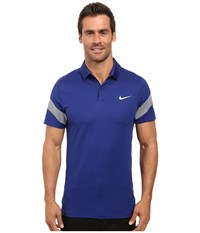 Nike Momentum Framing Commander Deep Royal Blue Anthracite Reflective Silver Men's Short Sleeve Pullover