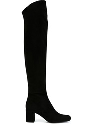 Saint Laurent Thigh High Boots Black